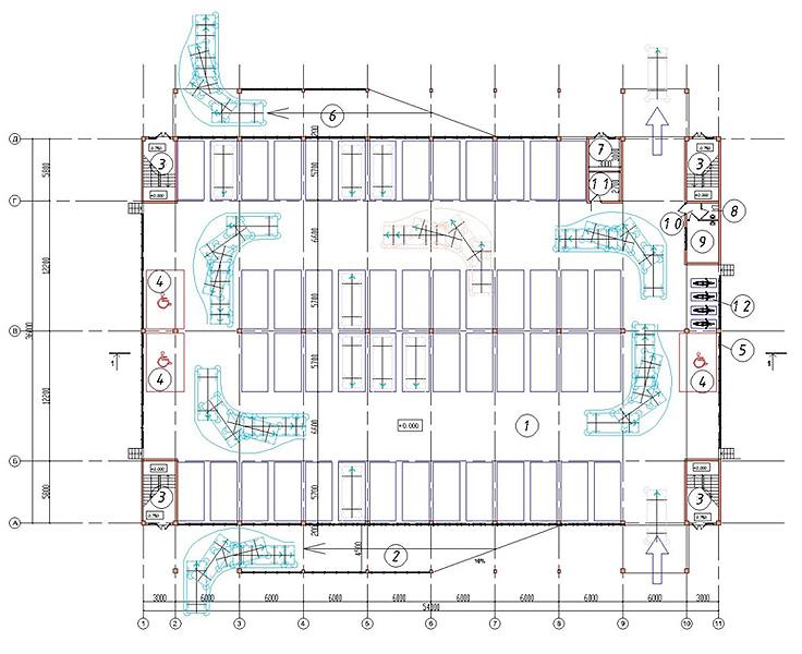 План - схема первого этажа на